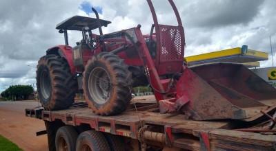 Polícia descobre que roubo de trator na área rural de Parecis foi simulação de crime
