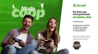 Sicredi apoia primeira liga de futebol virtual no Brasil