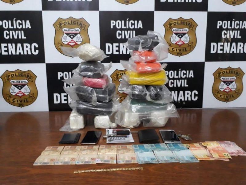 Traficante foge por bueiro em abordagem que apreendeu 20 Kg de cocaína em Porto Velho