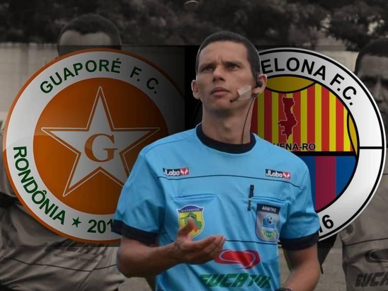 Trio da CBF escalado para apitar Guaporé x Barcelona pela terceira rodada do Campeonato Rondoniense