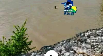 Vídeo mostra o momento em que homem desaparece nas águas do Rio Machado