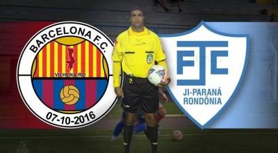 Fledes Rodrigues Santos será o árbitro do confronto Barcelona x Ji-Paraná no Portal da Amazônia