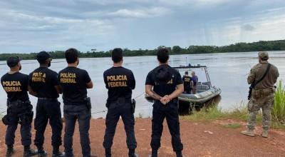 Grupo de elite da Polícia Federal reforça segurança na fronteira em Guajará-Mirim