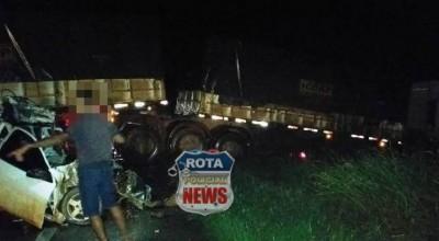 Técnico agrícola de 30 anos morre preso a ferragens após acidente na BR 174, entre Vilhena e Comodoro