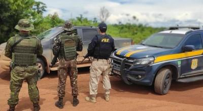 Caminhonete roubada em Ji-Paraná é recuperada em Guajará-Mirim, RO