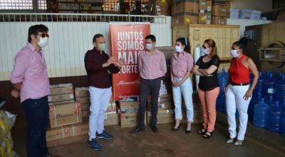 Frigorifico Minerva faz doação para ajudar a combater Coronavírus em Rolim de Moura