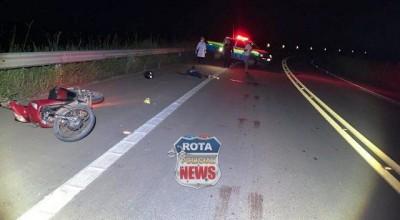 Motociclista morre após cair de moto em rodovia