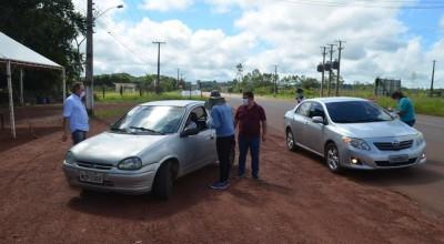 Para evitar coranavírus prefeitura de Rolim realiza barreira sanitárias