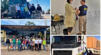 PRF e CEREST realizam Operação 'Siga em Frente, Caminhoneiro', no município de Pimenta Bueno