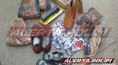 Rolim de Moura – Após arrombar loja de calçados e efetuar furto, individuo acaba preso pela Polícia Militar