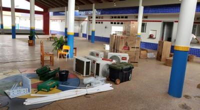 Creche do Bairro Cidade Alta recebe ar condicionado da Prefeitura