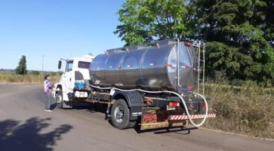 Produtores do leite realizam bloqueio em Rondônia