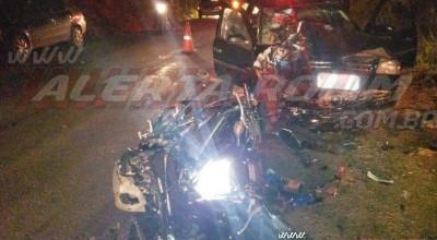 Grave acidente de trânsito foi registrado nesta noite de domingo (05), na RO -010 entre as linhas 168 e 172
