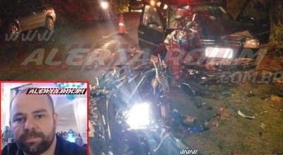 Após grave acidente entre carro e moto na RO-010, em Rolim de Moura, policial não resiste e vem a óbito