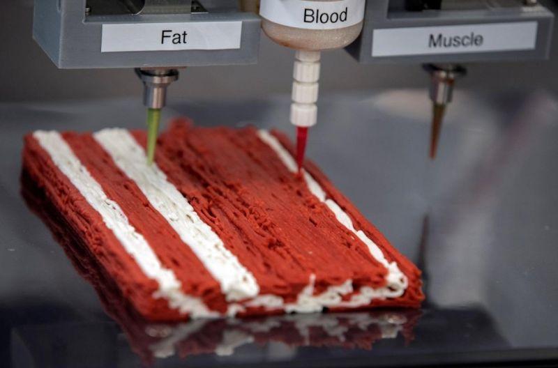 Empresa israelense lança impressora 3D para produzir bifes à base de plantas