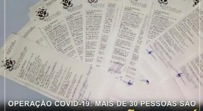Operação Covid-19: mais de 30 pessoas são flagradas desrespeitando Decreto Estadual