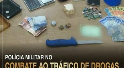 Polícia Militar de Rolim de Moura realiza apreensão de drogas