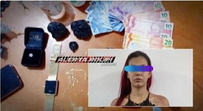 Presa mulher traficante em Rolim de Moura