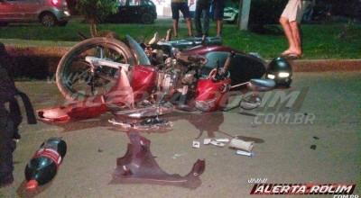 Rolim de Moura: Acidente entre motos resulta em feridos