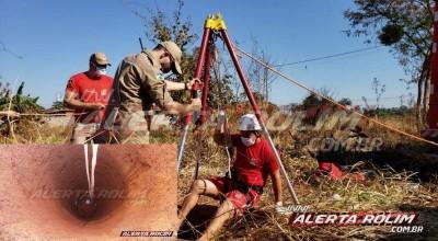 Rolim de Moura - Bombeiros são acionados para retirarem gato dentro de poço no Bairro Cidade Alta