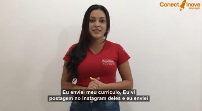 Depoimento: Mariana encontrou uma oportunidade de trabalho através da Conectinove Empregos