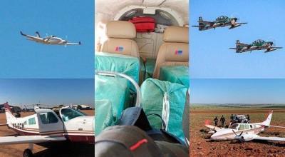 FAB intercepta aviões com 1,1 t de cocaína