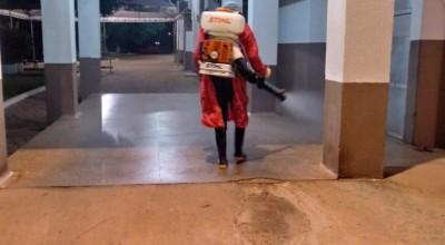 Hospital Municipal e Unidade Sentinela recebem limpeza pra combate a Covid