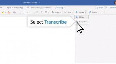 Microsoft Word passa a transcrever conferências e chamadas por telefone