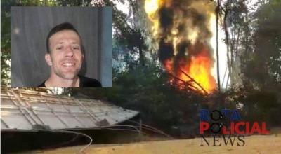 Morador de Vilhena morre em acidente de trânsito após carreta tombar e pegar fogo