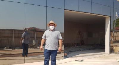 Vice-prefeito Fabricio Melo vistoria obra da nova prefeitura de Rolim de Moura