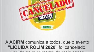 ECONOMIA: Acirm cancela a edição 2020 do Líquida Rolim