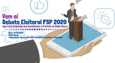 Eleições 2020: FSP anuncia debate entre os candidatos a prefeitura de Rolim de Moura