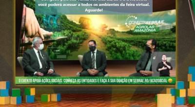 Mourão palestra na abertura da 1ª feira de agronegócio da Amazônia em ambiente virtual e 3D