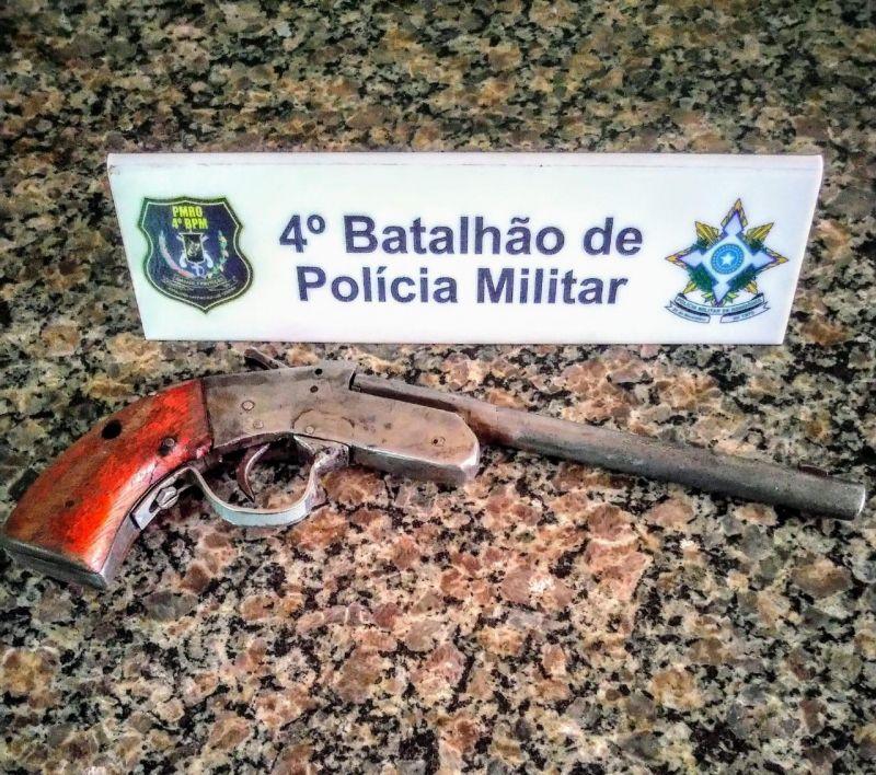 Cacoal: Polícia Militar apreende arma de fogo