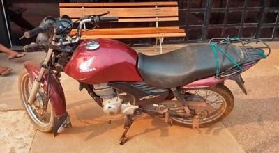 Polícia  Militar recupera motocicleta furtada em Cacoal