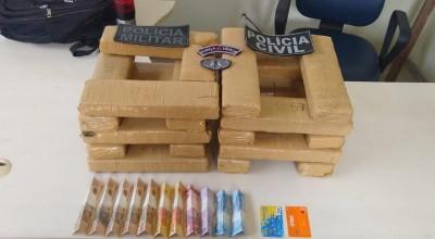 Polícias apreendem 20 kg de droga em operação conjunta em Ji-Paraná