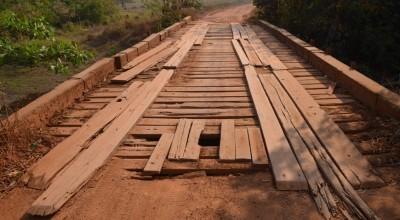 Ponte do rio Corgão é interditada para reforma na RO-484 em Santa Luzia do Oeste