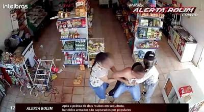 Após a prática de dois roubos em sequência, bandidos armados são capturados por populares