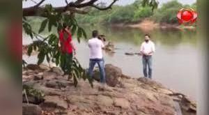 Gravando vídeo de campanha, candidato a prefeito despenca dentro de rio