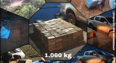 Operação integrada da Polícia Federal com outros órgãos retira de circulação mais de 1 tonelada de cocaína