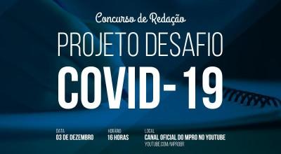 MP divulga resultado final do concurso de redação sobre a Covid-19 para estudantes da rede pública dos municípios Nova Brasilândia e Novo Horizonte no dia 3 de dezembro