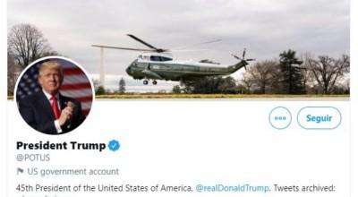 Twitter e Facebook vão transferir conta de presidente dos EUA para Biden