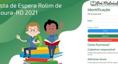 Rolim de Moura: Está aberta a Lista de Espera do Município para solicitação de matrículas 2021