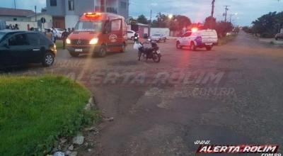 Rolim de Moura: Ciclista se envolve em acidente e é encaminha às pressas ao Hospital Municipal