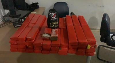 Em Ariquemes PM apreende mais de 70 quilos de maconha