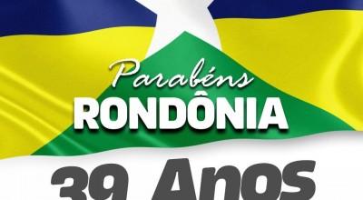 Mensagem do deputado Lazinho da Fetagro: Rondônia 39 anos
