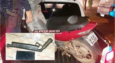 Moto roubada é recuperada pela Polícia Militar em Rolim de Moura