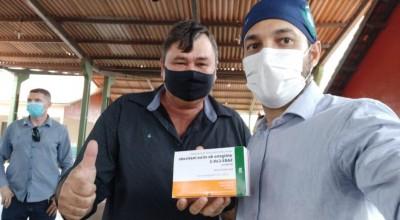 Rolim de Moura: Vereador Eliomar Monteiro recepciona governador do estado e acompanha serviços na Zona Rural