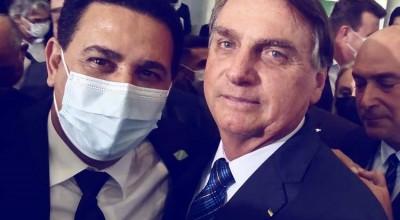 Prefeito de Rolim de Moura juntamente com outros prefeitos de Rondônia, participam de encontro com presidente Bolsonaro