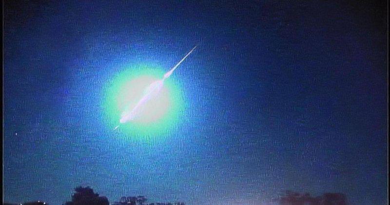 Queda de meteoro de magnitude elevada é vista